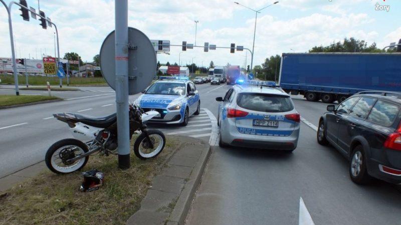 Pościg za motorowerzystą w Żorach