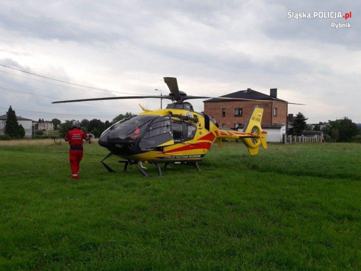 Groźny wypadek w Nowej Wsi. Lądował śmigłowiec LPR