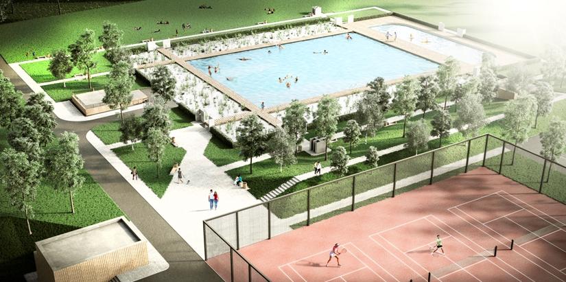 Ekologiczne kąpielisko w Żorach-Roju