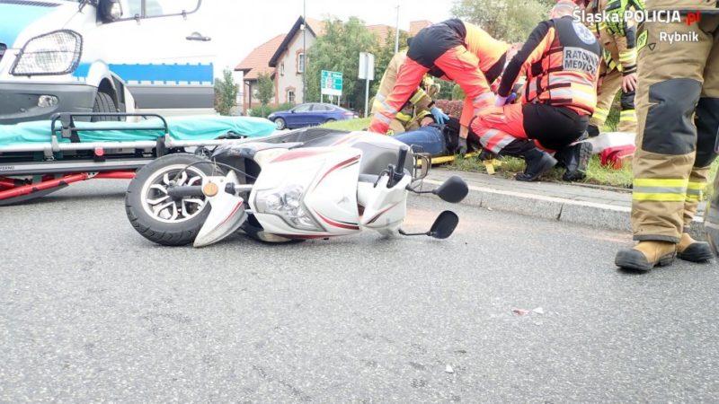 Wypadek na rondzie w Rybniku