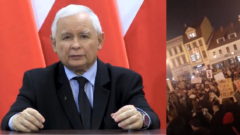 Tłum wyszedł na ulice. Kaczyński wypowiada wojnę