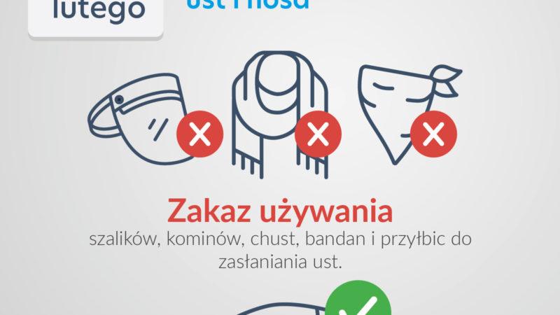 Nowe zasady, w tym zakaz używania przyłbic i chust