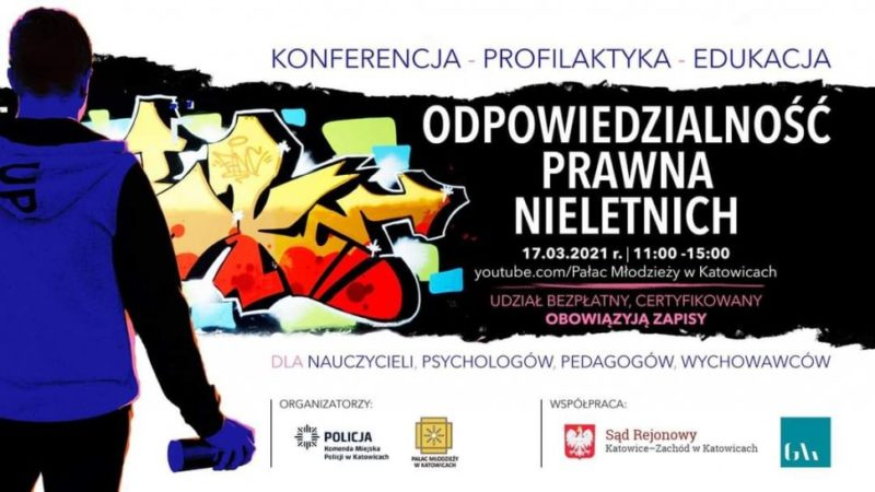 """""""Odpowiedzialność prawna nieletnich"""" – konferencja online"""