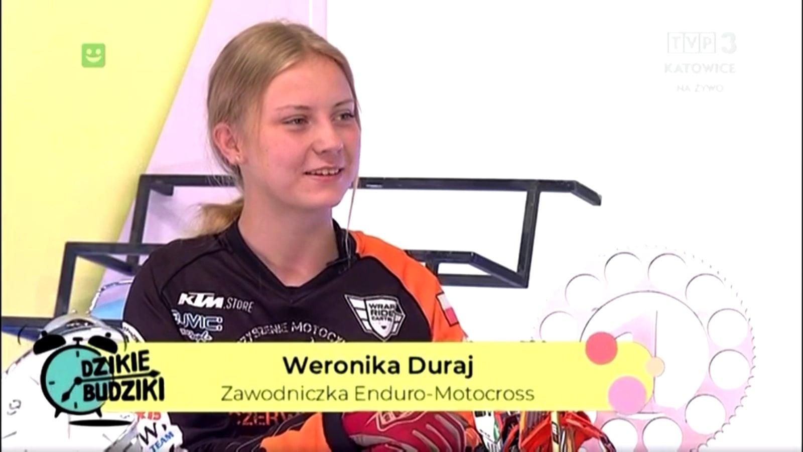 """Weronika Duraj w programie """"Dzikie budziki"""" w TVP Katowice"""