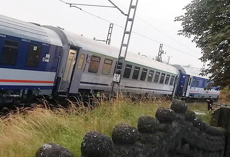 Wypadek pociągu PKP Intercity i podtopienia w Czerwionce
