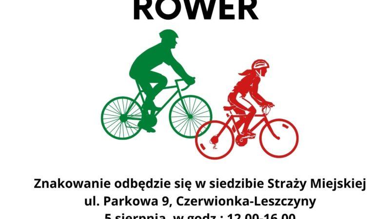 Akcja znakowania rowerów. Nie daj szansy złodziejowi